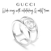 【GUCCI】Wide ring with interlocking G motif 9mm リング