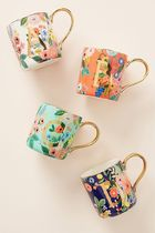 期間限定! Rifle Paper Co. Garden Party Monogram Mug