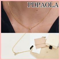 PDPAOLA ATELIER COLLECTION MIDNIGHT BLUE ネックレス Gold