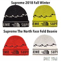 ★18FW★Supreme X The North Face Fold Beanie