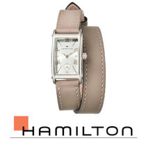 Hamilton★Ardmore Silver Dial Leather Strap Ladies Watch