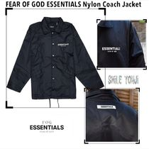 ★入手困難★Fear Of God Essentials Logo Nylon Coach Jacket