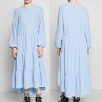 """MONKI"" Ruffle maxi dress SkyBlue"