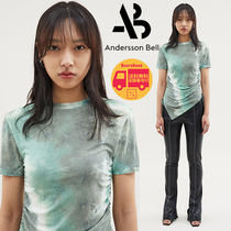 Andersson Bell CINDY ASYMMETRIC RUCHED T-SHIRT BBN995 追跡付
