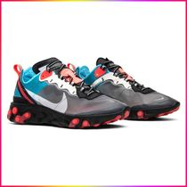 2018 Nike React Element 87 Blue Chill Solar Red