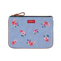 [Cath Kidston] COTTON POUCH PANSY TWILL (Blue)