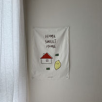 韓国人気雑貨☆HOME SWEET HOME FABRIC POSTER/SECOND MORNING