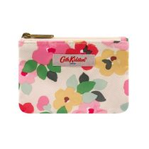 [Cath Kidston] DOUBLE POCKET PURSE LARGE PAINTED PANSIES