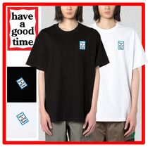 have a good time(ハブアグットタイム) Tシャツ・カットソー ★韓国の人気★have a good time★Mini Blue Frame S/S Tee★