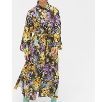 """MONKI"" Floral midi dress GardenFloral"