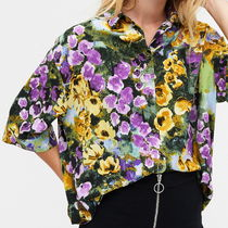 "MONKI(モンキ) ブラウス・シャツ ""MONKI"" Oversized button-up blouse Floral"