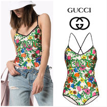 【GUCCI】Pop Flora print swimsuit
