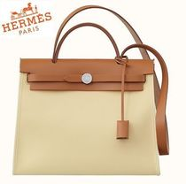 HERMES◆HERBAG ZIP 31 Vanilla/Nature◆