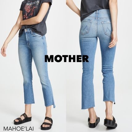 MOTHER デニム・ジーパン MOTHER Insider Crop Step Fray Jeans   ジーンズ