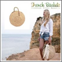 French Baskets(フレンチバスケット) かごバッグ French Baskets★Round Straw Basket 丸かごバッグ