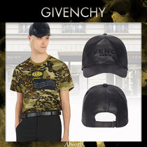 【20SS NEW】GIVENCHY_men / ロゴパッチレザーキャップ/ブラック