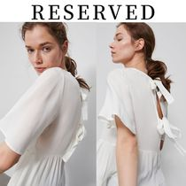 【RESERVED(リザーブド)】BackTieBlouse バック リボン トップス