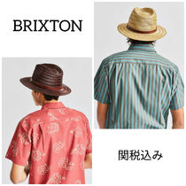 関税込み☆BRIXTON FIDDLE☆Messer Straw Fedora ストローハット