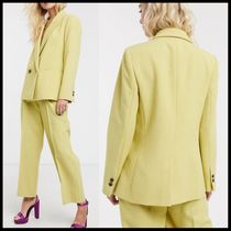 ASOS Topshop suit in lime green 上下セット