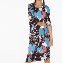 """MONKI"" Oversized t-shirt dress Abstract Brush Print"