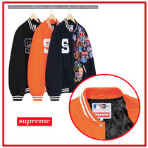シュプリーム Supreme★New Era/MLB Varsity Jacket