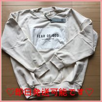 ☆送料関税込☆FEAR OF GOD Cream Cotton Patched Sweatshirt