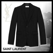 【20SS新作☆直営店買付】YSL/FLANNEL WITH RIVE GAUCHE STRIPES