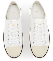CELINE _ BLANK LOW LACE UP SNEAKERS キャンバス&革 スニーカー