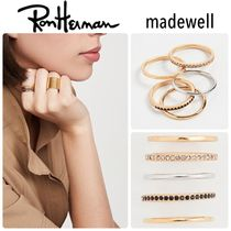 ★Ron Herman取扱★Madewell  Stacking Gold リング5本セット