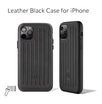 RIMOWA Leather Black Case for iPhone
