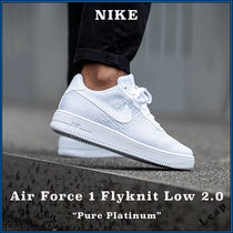 """【Nike】人気 Air Force 1 Flyknit Low 2.0 """"Pure Platinum"""""""