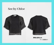 See by Chloe Mixed Media Blouse 異素材 メディアブラウス 黒