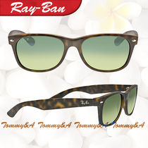 RAY BAN ★ レイバン New Wayfarer Havana Blue-Green Polarized