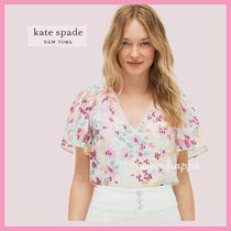 【kate spade】ふんわり柔らか☆painted petals burnout top