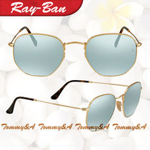クール RAY BAN ★ レイバン Hexagonal Silver Flash Sunglasses