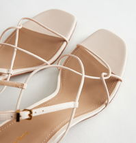 """& Other Stories"" Strappy Leather Heeled Sandal White"