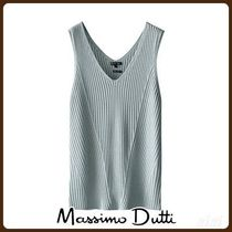 MassimoDutti♪V-NECK RIBBED TOP