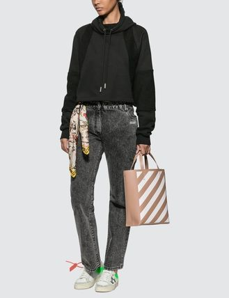 Off-White デニム・ジーパン オフホワイト ジーンス slightly bell jeans with twisted scarf(5)