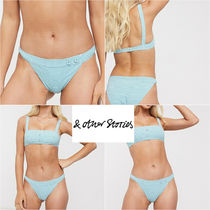 先取り☆& Other Stories☆striped crinkle bikini mini briefs
