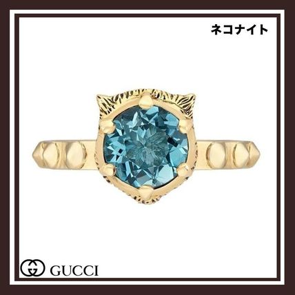 GUCCIル マルシェ デ メルヴェイユ アクアマリン リング 18K YGD