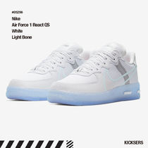 人気話題!Nike Air Force 1 React QS White Light Bone