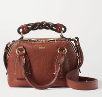 ★CHLOE☆DARIA SMALL TEXTURED AND SMOOTH LEATHER TOTE