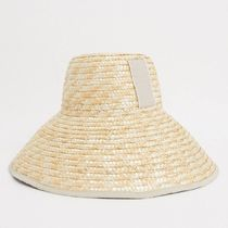 ASOS DESIGN tall crown straw hat with light band