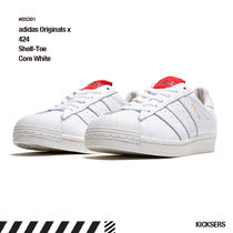人気話題コラボ!adidas Originals x 424 Shell-Toe Core White