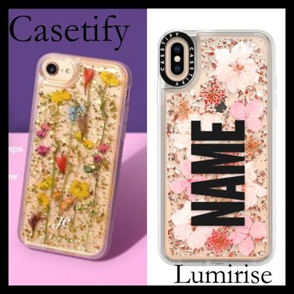 Casetify スマホケース・テックアクセサリー 【送関込】★Casetify★名前入り 押し花 iPhone Case