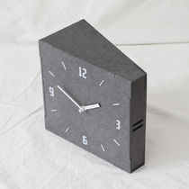 Timedeco Gray Wood Double Clock 無騒音