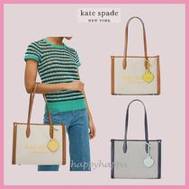 【kate spade】新作☆market canvas medium tote