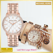 【日本未入荷☆新作SALE】MICHAEL KORS Ladi Nini Logo Watch