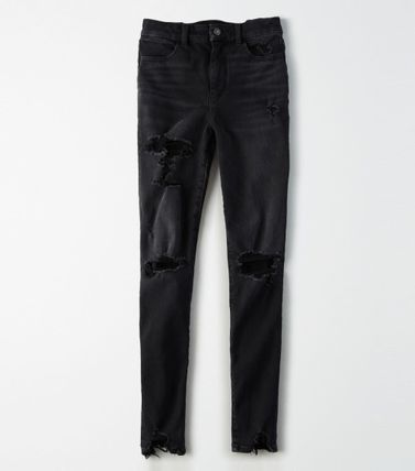 American Eagle Outfitters デニム・ジーパン ★送料・関税込★American Eagle★Denim Jagging Destroy Pants(4)