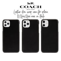 【COACH】Leather Slim Wrap Case for iPhone 11/11pro/11promax